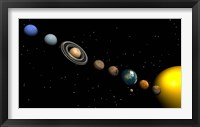 Framed Planets of the Solar System