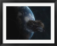 Framed Asteroid in Front of the Earth I