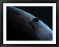 Framed Asteroid in Front of the Earth II