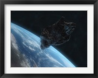 Framed Asteroid in Front of the Earth IV
