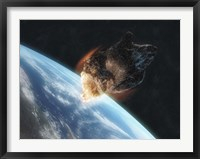 Framed Asteroid in Front of the Earth V