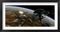 Framed Terrestrial Planet that has been hit by an Asteroid