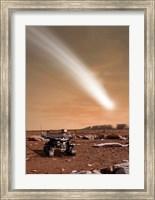 Framed Comet C/2013 A1 over Mars
