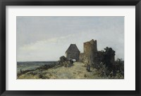 Framed Ruins Of The Chateau De Rosemont, Nievre, 1861