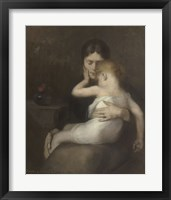 Framed Sick Child (Madame Eugene Carriere and Son Leon), 1885
