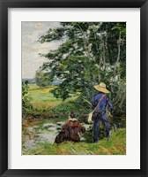 Framed Anglers, c. 1885