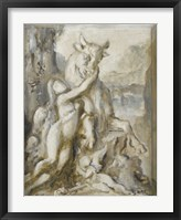 Framed Pasiphae, Grisaille, 19th Century