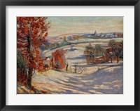 Framed Snow In Ivry, 1895