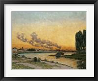 Framed Sunset At Ivry, 1874