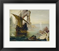 Framed Ulysses And The Sirens, 1875-1880
