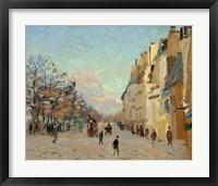 Framed Quai De La Gare, Snow, 1880