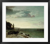 Framed Sea At Etretat, 1853