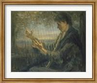 Framed Harp Player