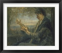 Framed Harp Player