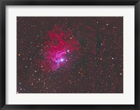 Framed IC 405, The Flaming Star Nebula in the Constellation Auriga