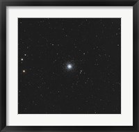 Framed Messier 53, globular cluster in the Coma Berenices Constellation