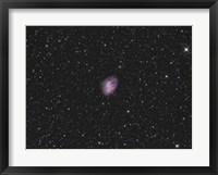 Framed Crab Nebula, a supernova remnant in the Constellation of Taurus