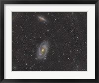 Framed Cigar Galaxy and Bode's Galaxy in the Constellation Ursa Major