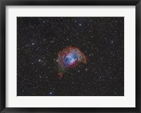 Framed Messier 27, the Dumbbell Nebula