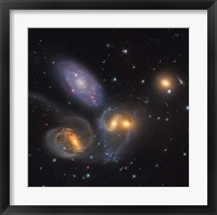 Framed Stephan's Quintet, a grouping of galaxies in the Constellation Pegasus