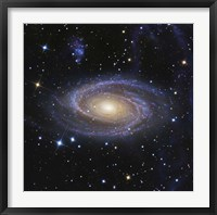 Framed Messier 81, or Bode's Galaxy, is a spiral galaxy located in the Constellation Ursa Major