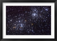 Framed NGC 884, an open cluster, in the Constellation of Perseus