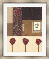 Framed Elements of Roses I