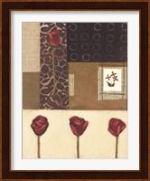 Framed Elements of Roses I
