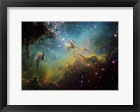 Framed M16 the Eagle Nebula