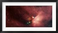 Framed Rho Ophiuchi Nebula
