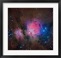 Framed Messier 42, the Orion Nebula II