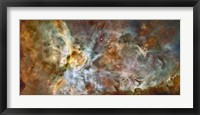 Framed Central region of the Carina Nebula