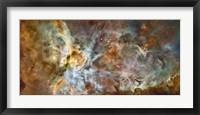 Framed Central region of the Carina Nebula