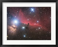 Framed Horsehead Nebula and Flame Nebula in Orion