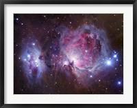 Framed M42, the Orion Nebula (top), and NGC 1977, a reflection Nebula (bottom)