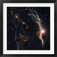 Framed Witch's Broom Nebula (NGC 6960), and part of the Veil Nebula