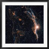 Framed Witch's Broom Nebula (NGC 6960), and part of the Veil Nebula