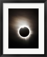 Framed Solar Eclipse with diamond ring effect, Queensland, Australia