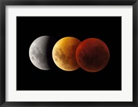Framed Composite image of lunar Eclipse, Victoria, Australia