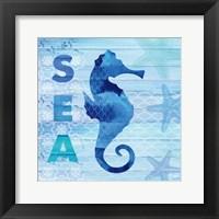 Framed Sea Glass Seahorse
