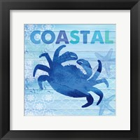 Framed Sea Glass Crab