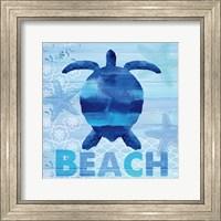 Framed Sea Glass Turtle