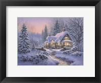 Winter's Blanket Wouldbie Cottage Framed Print