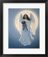 Framed Moon Angel