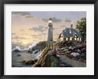 Lighthouse Cottage Framed Print