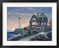 Lighthouse Overlook Framed Print