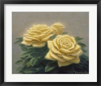 Framed Yellow Roses