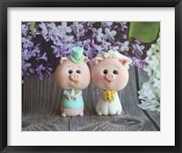 Framed Bride And Groom Piggy