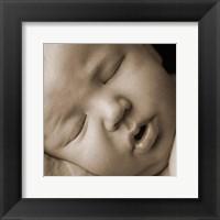 Sleeping Baby Face II Framed Print