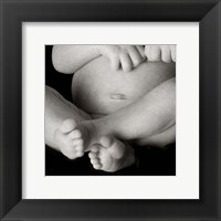 Framed Baby Feet And Belly
